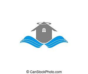 Wing House Vector Logo
