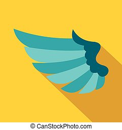 Wing icon in flat style