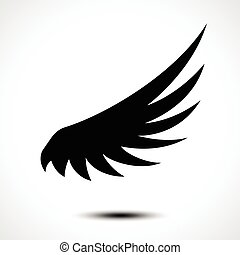 Wing icon isolated on white background