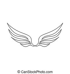 Wing icon, outline style