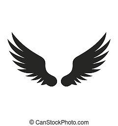 Wing Icon. Vector