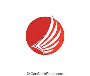 Wing logo symbol illustration