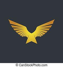 Wing logo template vector icon