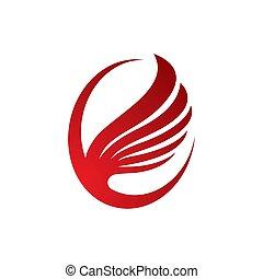 Wing logo vector icon