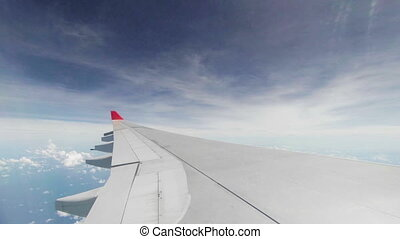 Wing of passenger airplane - Video 1920x1080 - Wing of...
