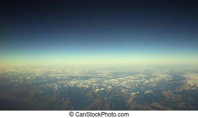 Wing of Passenger Airplane View Through Window - Traveling...