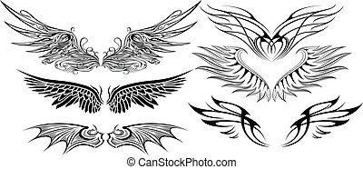 WING SET - illustration of wings set