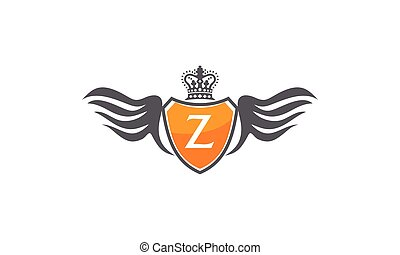 Wing Shield Crown Initial Z