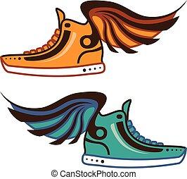 wing., sko, fast.