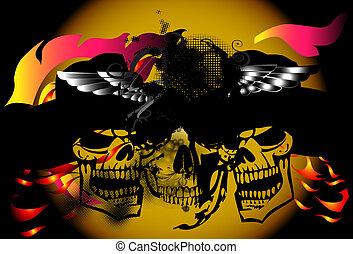 wing-skull-dead