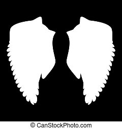 Wing the white color icon .