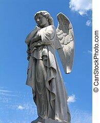 winged, ангел, статуя