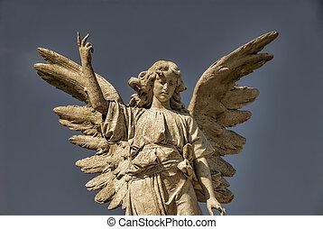 winged, камень, ангел