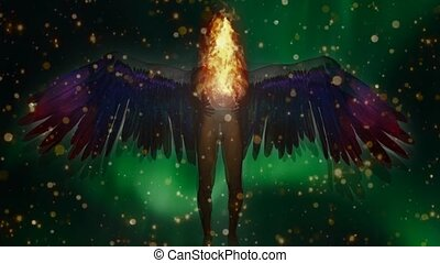 Winged Angel Being holds Divine Fire