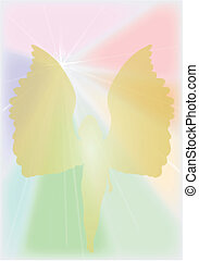 Winged Angel - An angel with a bright heaven style...