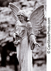 Winged angel - Series of Cemetery Angels and monuments from...