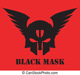 winged black mask