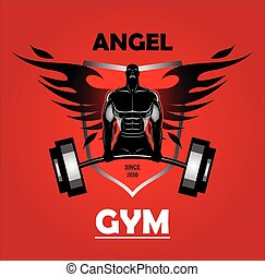 Winged bodybuilder.eps