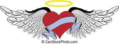 winged, coração, 01