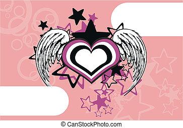 winged, coração, background6