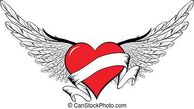 winged, coração, i8