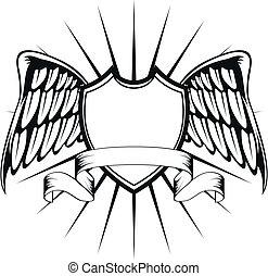 winged, crest4