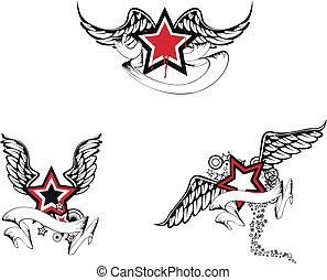 winged, estrela, pack02