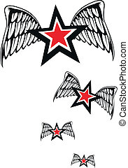 winged, estrelas