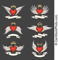 Winged Heart Emblem Set