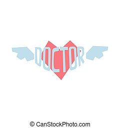 Winged Heart With Word Doctor In It