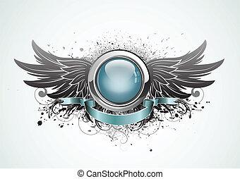 winged, insignia
