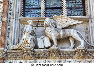 Winged Lion of St  Mark - symbol of