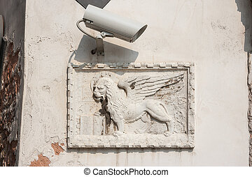 Winged lion. Venice, Italy