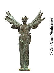Winged Niki greek statue at ancient Olympia in Greece