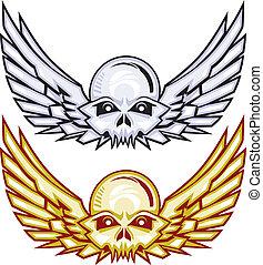 Winged Raider Skulls