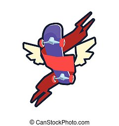 Winged Skateboard Logo Design