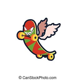 Winged Skatebord Character