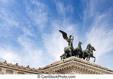 Winged victory and Quadriga - Altare della Patria - Rome ...