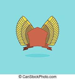 wings., årgång, heraldisk, skydda