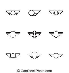 wings., バッジ