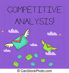 wings., azokat, használt, versenytárs, színes, ügy, fénykép, kiállítás, módszer, két, versenyképes, hadászati, jegyzet, showcasing, kívül, analysis., boríték, kiértékel, levél írás, légiposta