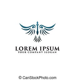wings bird logo. luxury design concept template