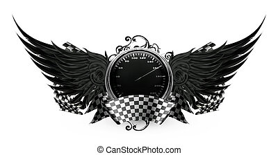 Wings Black, Racing emblem eps10