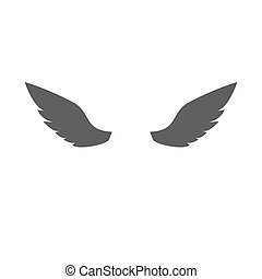 Wings Flat Icon on white background. Vector Illustration.