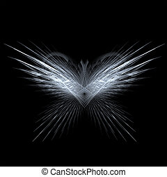 fractal rendering resembling angel or butterfly wings