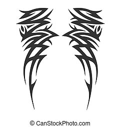 Wings icon on a white background. Vector illustration