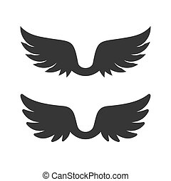 Wings Icon on White Background. Vector