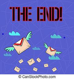 wings., les, conclusion, coloré, photo, projection, vie, deux, fin, note, showcasing, quelque chose, enveloppes, temps, écriture lettre, business, poste aérienne, end.