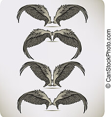 Wings of the Griffon, set. Vector i