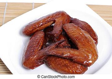 wings., pollo, cocido al horno